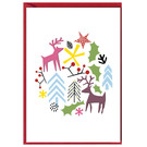 fzxm008 |  Xmas Karten | Deer and others - double card