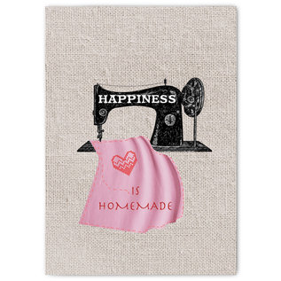 fzyp045| You've Got Post | Happiness is homemade - Postcard A6