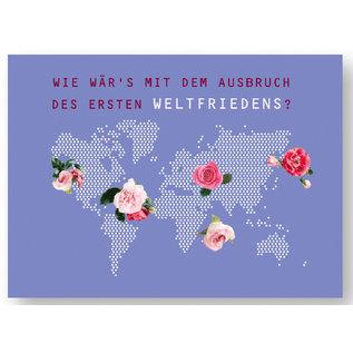 fzyp067 | You've Got Post | Weltfrieden - Postkarte  A6