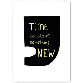 fzyp076 | You've Got Post | Time to start something NEW - Postcard A6