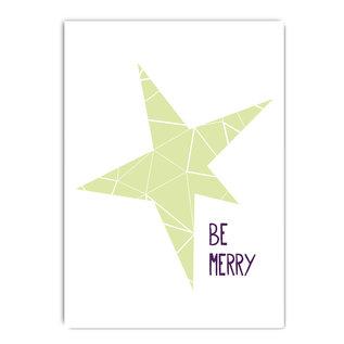 fzypx06 | You've Got Post | Be merry - Postcard A6