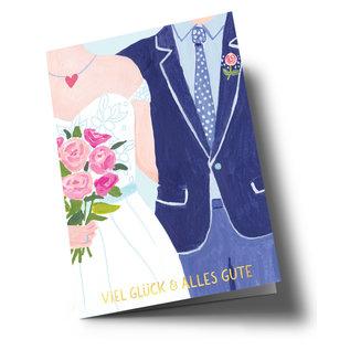 ar301 | Anke Rega | Wedding couple - double card C6