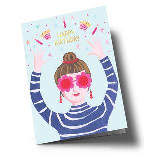 ar300 | Anke Rega | Birthday Girl - double card C6