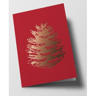 pu113 | Pure | pinecone, red - double card  C6