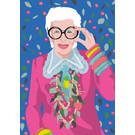 ng203 | pop art new generation | Iris Apfel - Postkarte