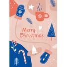 dfx300 | Designfräulein | Merry Xmas rot/blau - Postkarte