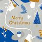 dfx301 | Designfräulein | Merry Xmas blau/grau - postcard A6