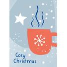 dfx309 | Designfräulein | Cosy Christmas - Postkarte