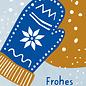 dfx308   Designfräulein   Frohes Fest Handschuh - Postkarte A6