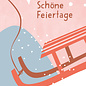 dfx307 | Designfräulein | Schöne Feiertage sledge - postcard A6