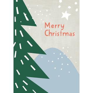 dfx306 | Designfräulein | Merry Christmas Tanne - Postkarte