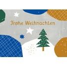 Designfräulein dfx305 | Designfräulein | Frohe Weihnachten - Postkarte