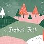 dfx304   Designfräulein   Frohes Fest Landschaft - Postkarte  A6