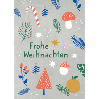 Designfräulein dfx302 | Designfräulein | Frohe Weihnachten - postcard A6