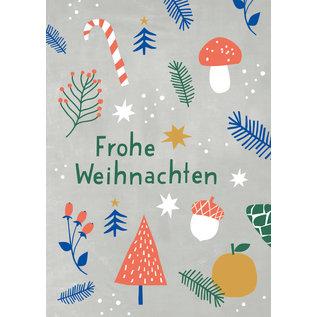 dfx302 | Designfräulein | Frohe Weihnachten - postcard A6