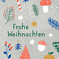 dfx302   Designfräulein   Frohe Weihnachten - Postkarte  A6