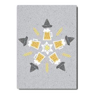 fzgc046 |  Gray-Code | Beer kaleidoscope - postcard A6