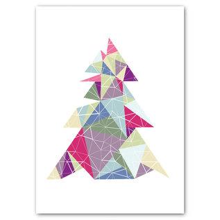 FZYPX07 |  Xmas Karten | triangle tree - Postkarte  A6