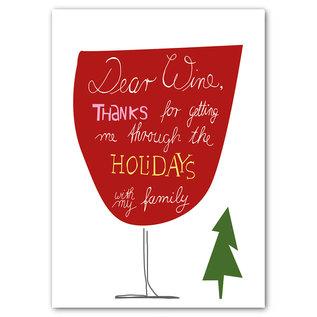 FZYPX05    Xmas Karten   Dear Wine - Postkarte  A6