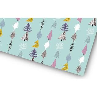 fzgp004 | Geschenkpapier | Tannenbäume