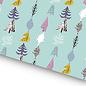 fzgp004 | Gift Paper | Christmas Trees