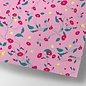cc744 | crissXcross | Pink flower meadow - wrapping paper sheet 50 x 70 cm