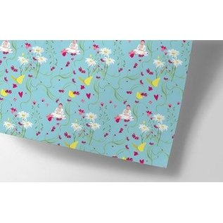 cc745 | crissXcross | Buddha flowers - wrapping pape sheet 50 x 70 cm