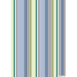 fzgp025 | Geschenkpapier | Stripes blau grün
