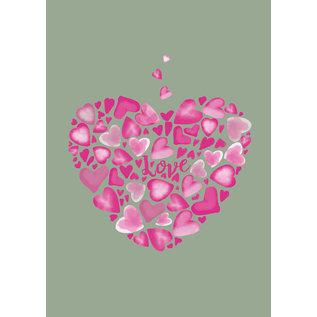 mi035 | m-illu | Pink Love - postcard A6