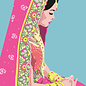 ha030 | happiness | Inderin - Postkarte A6