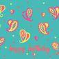 ha035   happiness   Paisley - Happy Birthday - Postkarte A6