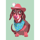 lu131 | luminous | Dachshund with hat