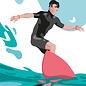 lu138 | luminous | Surfer - postcard A6