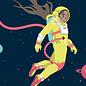 lu217 | luminous | Astronaut - postcard A6