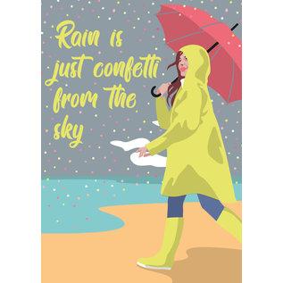 lu218   luminous   Raincoat - postcard A6
