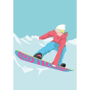 lu222 | luminous | Snowboarder - postcard A6