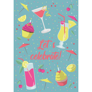 lu224   luminous   Let's celebrate - postcard A6