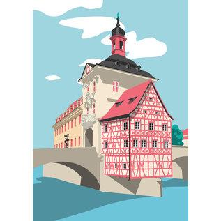 bv068 | bon voyage | Old town hall, Bamberg - postcard A6