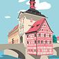 bv068 | bon voyage | Altes Rathaus, Bamberg - Postkarte A6