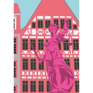 bv070 | bon voyage | Roman fountain, Frankfurt - postcard A6