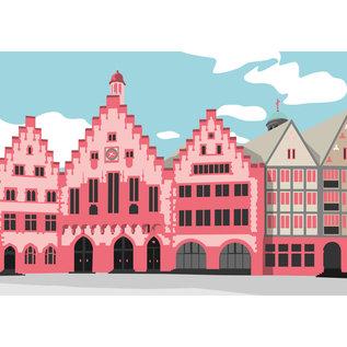 bv071 | bon voyage | Römer, Frankfurt - postcard A6