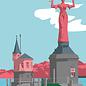 bv072 | bon voyage | Imperia, Konstanz - postcard A6