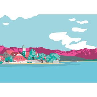 bv074 | bon voyage | Wasserburg, Bodensee - Postkarte A6