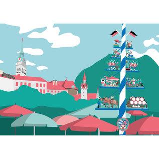 bv076 | bon voyage | Viktualienmarkt, München - Postkarte A6