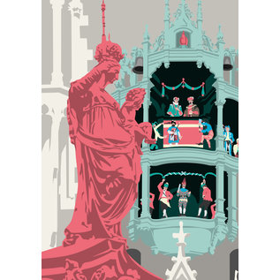 bv077 | bon voyage | Neues Rathaus, München - Postkarte A6