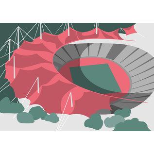 bv079 | bon voyage | Olympiastadion, München - Postkarte A6