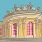 bv081 | bon voyage | Castle Sanssouci, Potsdam - postcard A6