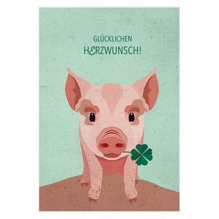 di008 | Daria Ivanovna | Schweinchen  - Postkarte A6