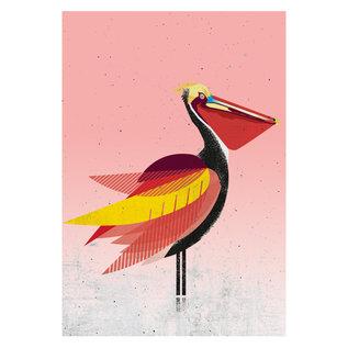di011 | Daria Ivanovna | Pelican - postcard A6
