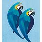 di013 | Daria Ivanovna | Papagien - Postkarte A6
